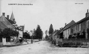 la rue de l'église en 1910