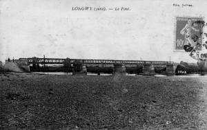 Premier pont sur le Doubs construit à Longwy en 1880