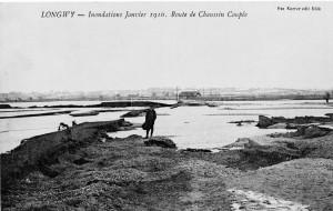 inondations à Longwy en janvier 1910
